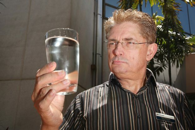 Logan City Council will be asking SEQ Water about the costs of taking fluoride out of our water supply. Pictured is Cr Don Petersen. Photo: Inga Williams / The Reporter