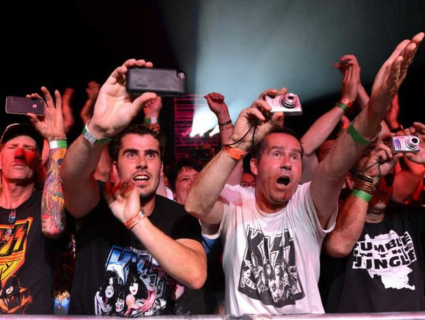 KISS fans are in prime position as their idols kick off The Monster Tour 2013 in Mackay.