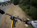 Camera captures extreme downhill mountain biking run