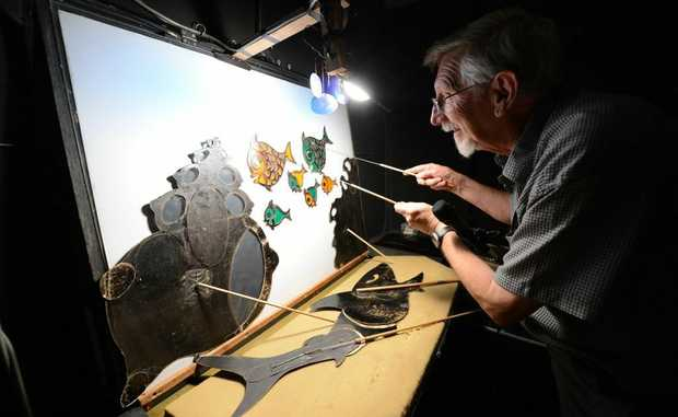 Shadow Puppeteer Richard Bradshaw will host shadow theatre shows at Ipswich Art Gallery for the school holidays.