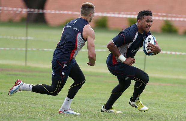 Cooper Vuna during the Melbourne Rebels training session at Northwood School on March 20, 2013 in Durban, South Africa.