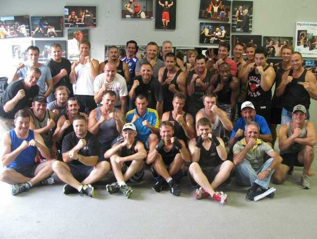 The group of men who are training daily under the tutelage of former Australian Junior Middleweight champion Gavin Topp