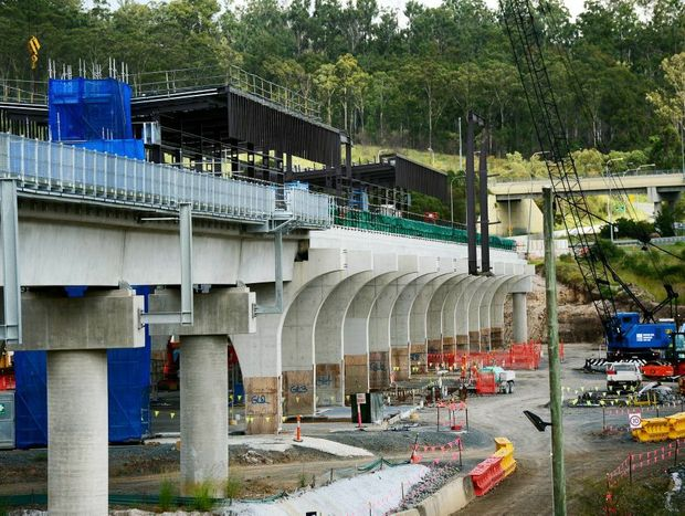 END OF THE LINE: The new QR Springfield Central Station is nearing completion despite calls to extend the Springfield line to Ipswich via Ripley.