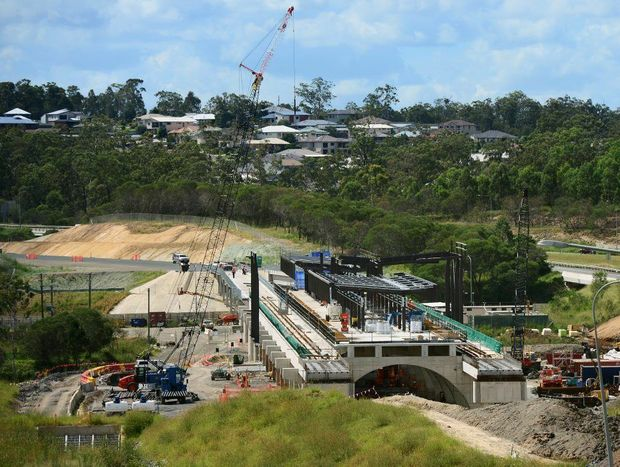 The new QR Springfield Central Station is nearing completion. Photo: David Nielsen / The Queensland Times