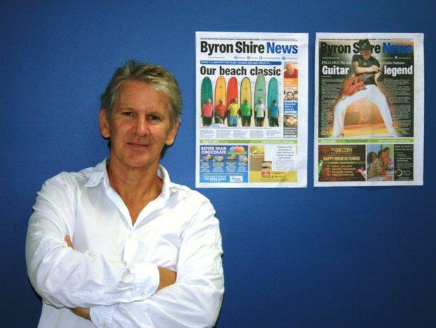 Former editor of the Byron Shire News Digby Hildreth.