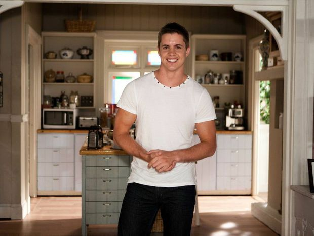 Johnny Ruffo in a scene from the TV series Home and Away.