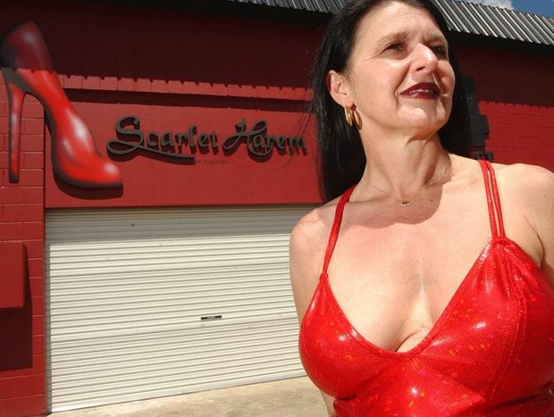 Harem Scarlet owner Paris Satine held back tears in court yesterday when a former manager was up on stealing charges.