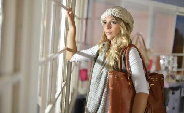 COSY COMFORT: beanie - $8.50, scarves - est $8.50 each, bag - $22.50.
