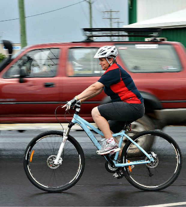 DANGER: Bicycle Connection's Tammy Comerford thinks Mackay's roads are too unsafe for cyclists.