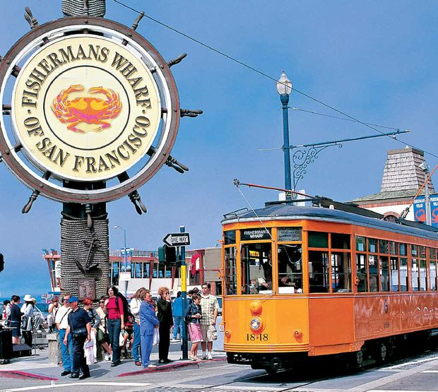 San Francisco's famous Fisherman's Wharf precinct.