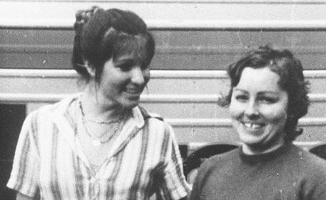 One of the last known photographs of Lorraine Wilson and Wendy Evans taken not long before their murders in bushland near Toowoomba in 1974.