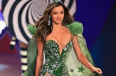 Miranda Kerr on Victoria's Secret runway in 2012.