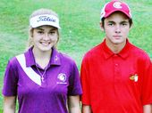 TWO of the Ipswich region's most exciting golf prospects won the recent Sandy Gallop Golf Club Championships.