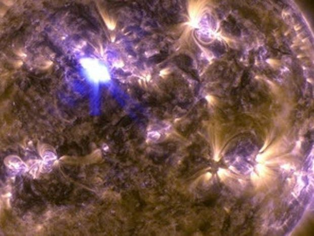 NASA's Solar Dynamics Observatory captured this image of an M6.5 class flare on April 11, 2013.