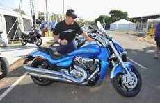 Shawn Giles from Sydney gives a new Boulevard M109R a clean.