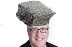 CAKE CONTROVERSY: The spoof Twitter image of Ipswich MP Ian Berry, featuring a giant Lamington superimposed on his head.