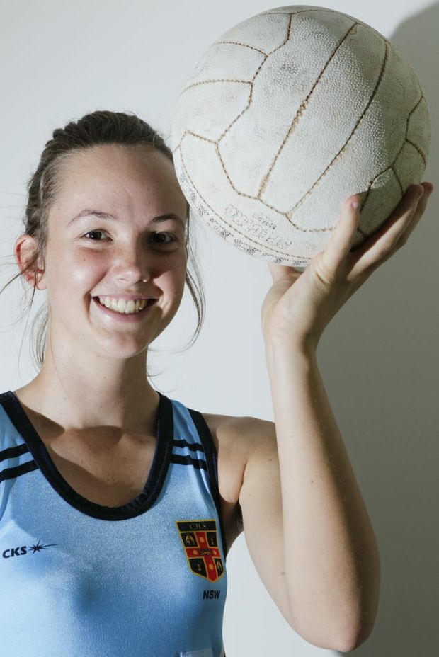 Lauren Yager of Wollongbar the lastest NSW Goal Attack and Goal Shooter Under 17 netball player. Photo Jay Cronan / The Northern Star