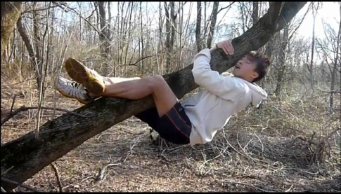 """A still from Hong Kong's Chris Leung's application video for the Best Job in the World """"park ranger"""" position."""
