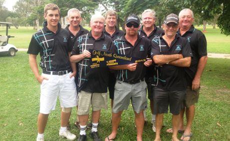 Mackay's winning C-grade pennants team is Dave Goodwin, Steve O'Donnell, Rusty Hoy (captain), Laurie Brown, Dave Watling, Darryl Falvey, John Morgan and Greg Webster.