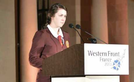 FAULTLESS: McCauley Catholic College student Caitlin Nas