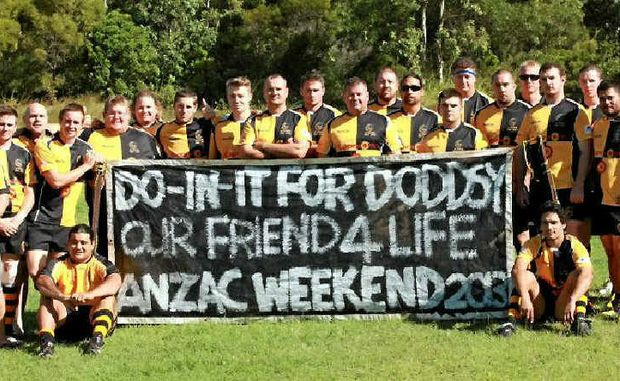 "RESPECT: The Cap Coast Crocs were playing for team mate Glen ""Doddsy"" Dodds on the weekend. Dodds is on deployment in Afghanistan."