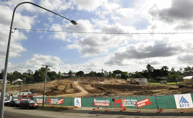 Excavation works are underway at the site of the new West Ipswich Bunnings on the corner of Clay and Brisbane Sts.
