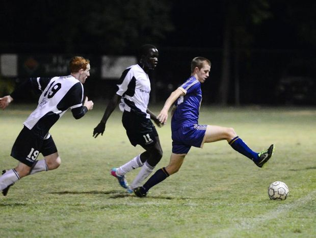CQFC Energy's Braedyn Crowley in the game against Morten Bay Jets.