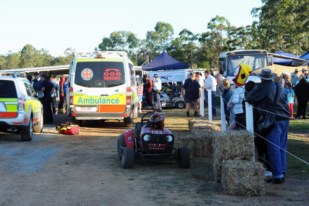 Racing Mower Crashes Into Spectators Big Rigs
