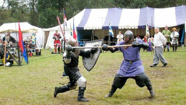 Scenes from former Society for Creative Anachronism Geat Northern War events.