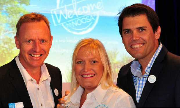 SPREADING THE WORD: Tourism Noosa general manager Damien Massingham, Tourism Noosa Industry liaison manager Juanita Bloomfield and Tourism Noosa Chairman Steve McPharlin.