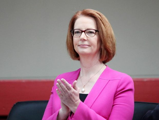 Prime Minister Julia Gillard was the target of an LNP fundraiser menu.