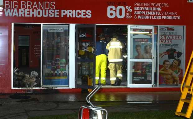 Emergency Services at the scene of at fire at the Nutrition Warehouse on Aerodrome Road, Maroochydore. Warren Lynam / Sunshine Cost Daily