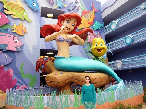 Nicole Fuge at Disney's Art of Animation Resort, Florida, USA.