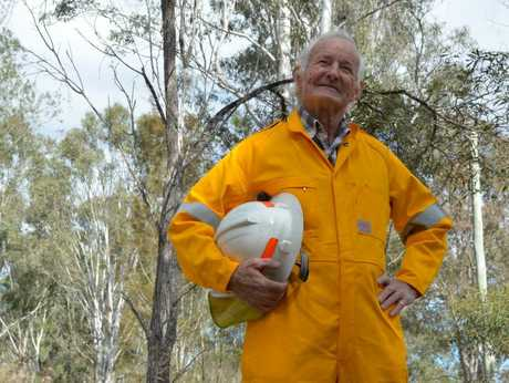EXPERIENCED: Greg Hunter may be 83-years-old but he doesn't let that stop him from volunteering as a rural firefighter for the South Nanango brigade.