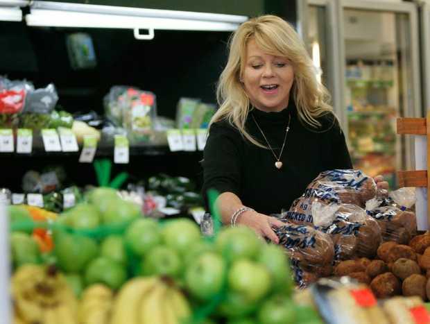 Co-owner of the Lakes Creek Supermarket, Sandi Ferguson in the fresh produce section. Photo: Chris Ison / The Morning Bulletin
