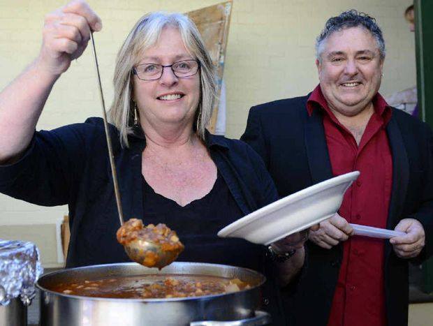 South Grafton Alchemy Cafe owners Annie Dodd and Peter Freeman were one of the chefs serving up at the Friends of the Gallery fundraiser 'Soup Day' at Grafton Regional Gallery on Sunday.