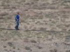 Nik Wallenda walks tightrope 450m above Grand Canyon