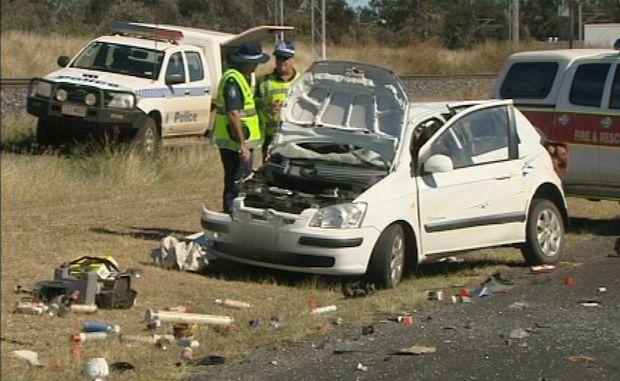 Fatal crash near Blackwater. Photo Contributed WIN News