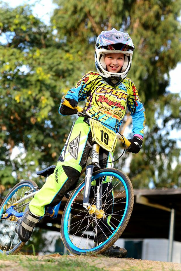 Jack Weise, age 7, from Rockhampton is heading to the world titles for BMX in New Zealand. Photo Sharyn O'Neill / The Morning Bulletin