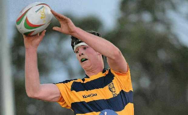 TOP EFFORT: Central Highlands' lock Ed Donaldson shone for Central Colts against South Queensland.