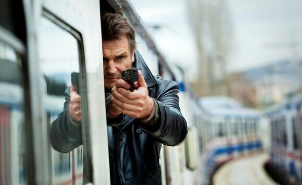 Liam Neeson in a scene from the movie Taken 2.