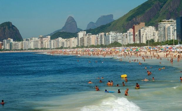 Brazil's famous Copacabana Beach is a magnet.