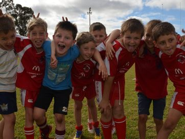 South Burnett rugby league juniors enjoy a day on the paddock at the NRL Backyard League Clinic in Kingaroy.