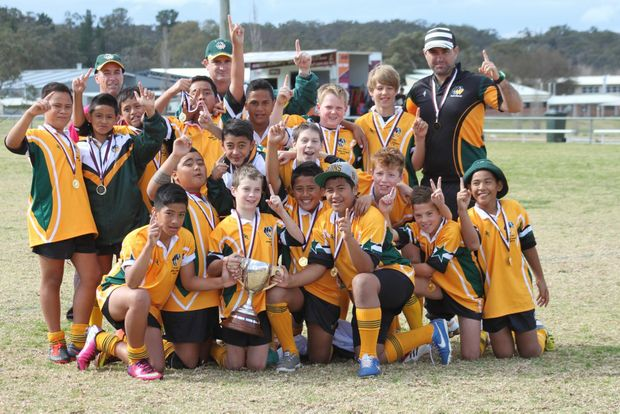 TROPHY HOLDERS: Metropolitan West won the Vic Jensen Carnival grand-final against Capricornia.