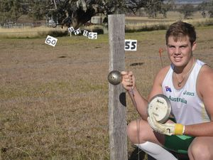 Matt Denny has won a gold and silver medal at the Australian Track and Field Championships in Brisbane.