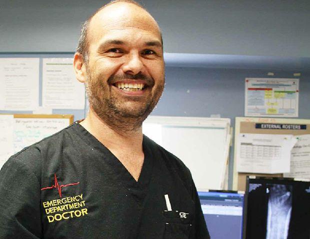 TEAM LEADER: Gladstone Hospital's new Emergency Medicine director Dr Ray Gadd.