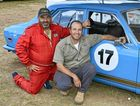 RACING FANS: Scott and Steve Gander at Morgan Park Raceway on Sunday for the Historic Queensland meeting.