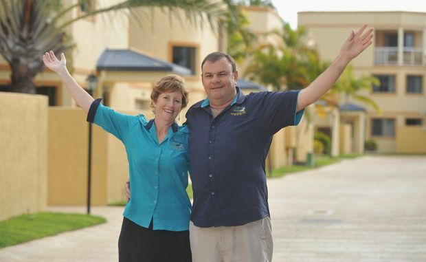 The managers of the Grange Resort in Urangan, Peter and Belinda Butler, have been nominated for a Queensland Tourism Award.