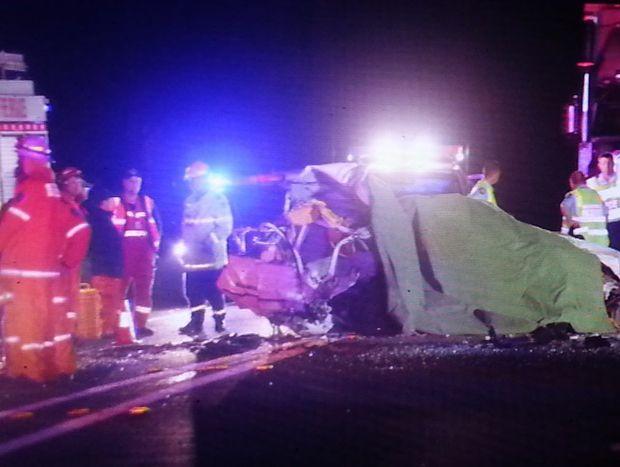 The scene of a fatal crash at Halfway Creek, south of Grafton. Photo Frank Redward.