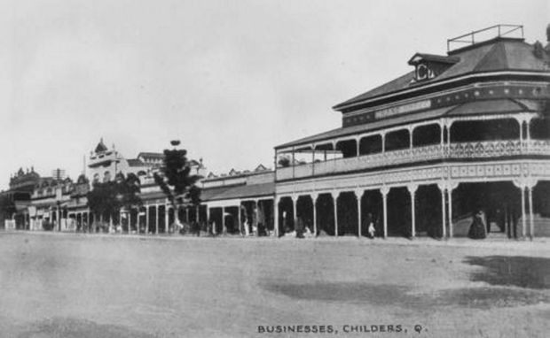 The Grand Hotel in Childers in 1915.